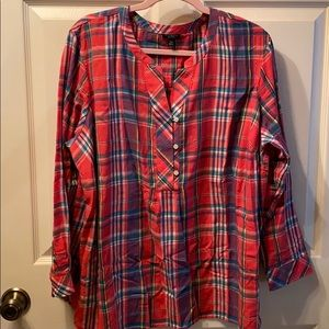 Plaid popover shirt / best for fall